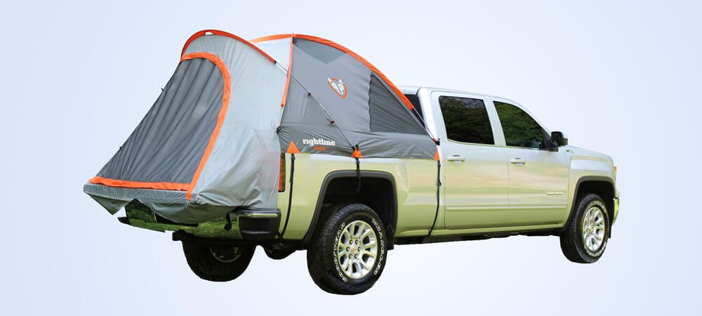 mid size truck bed tent by rightline gear have good quality fabric material and it is most popular truck bed tents for camping.
