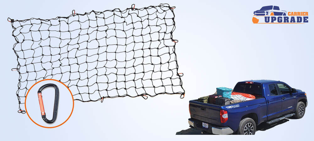 Super duty bungee truck bed cargo net