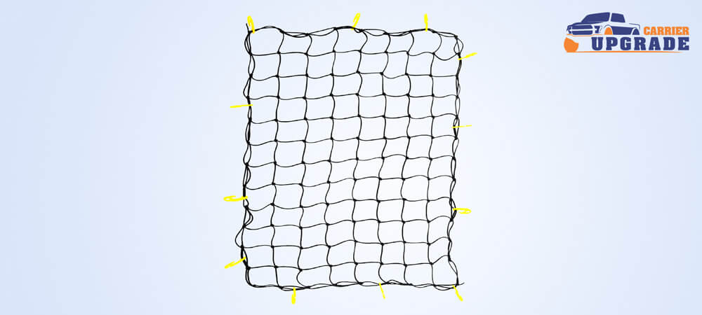 This truck bed cargo net useful for heavy duty loads