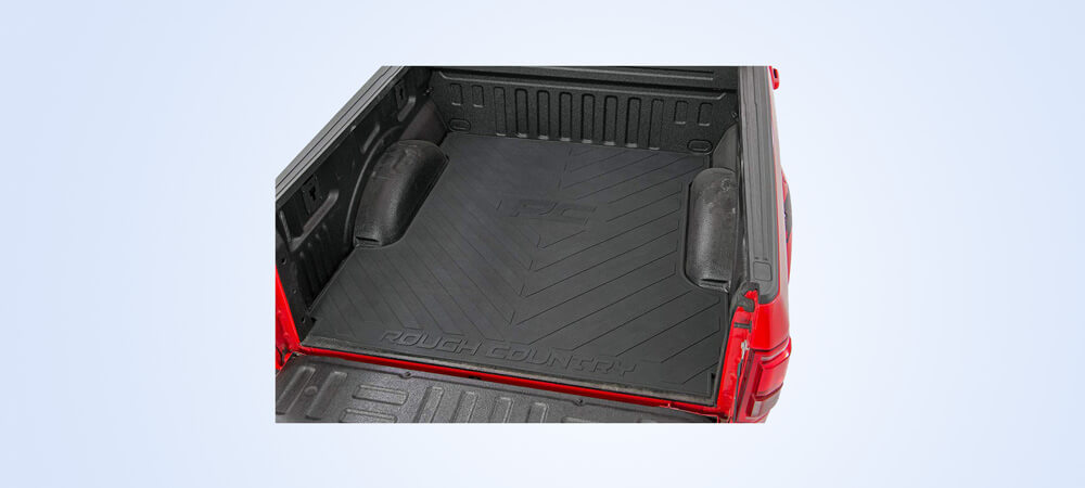 rubber mats for truck bed by rough country